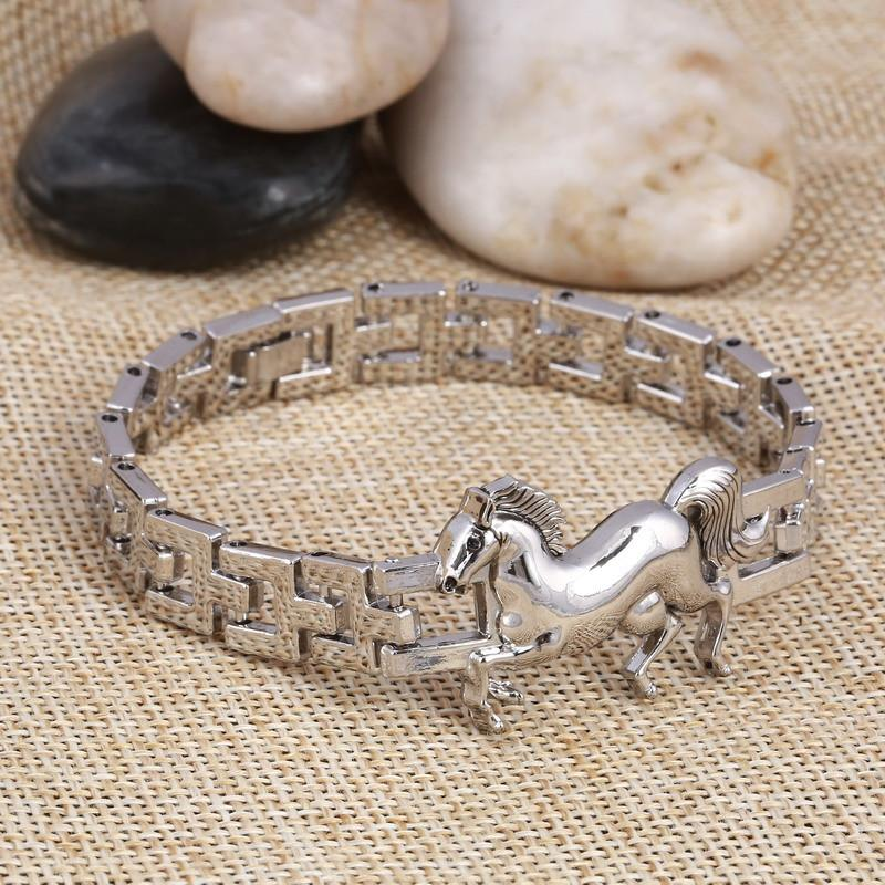 9 99 Horse Stainless Steel Charm Bracelet Styledrestyled For The Latest Trendy Fashions And Jewelry