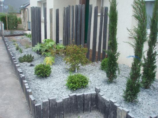 deco jardin schiste