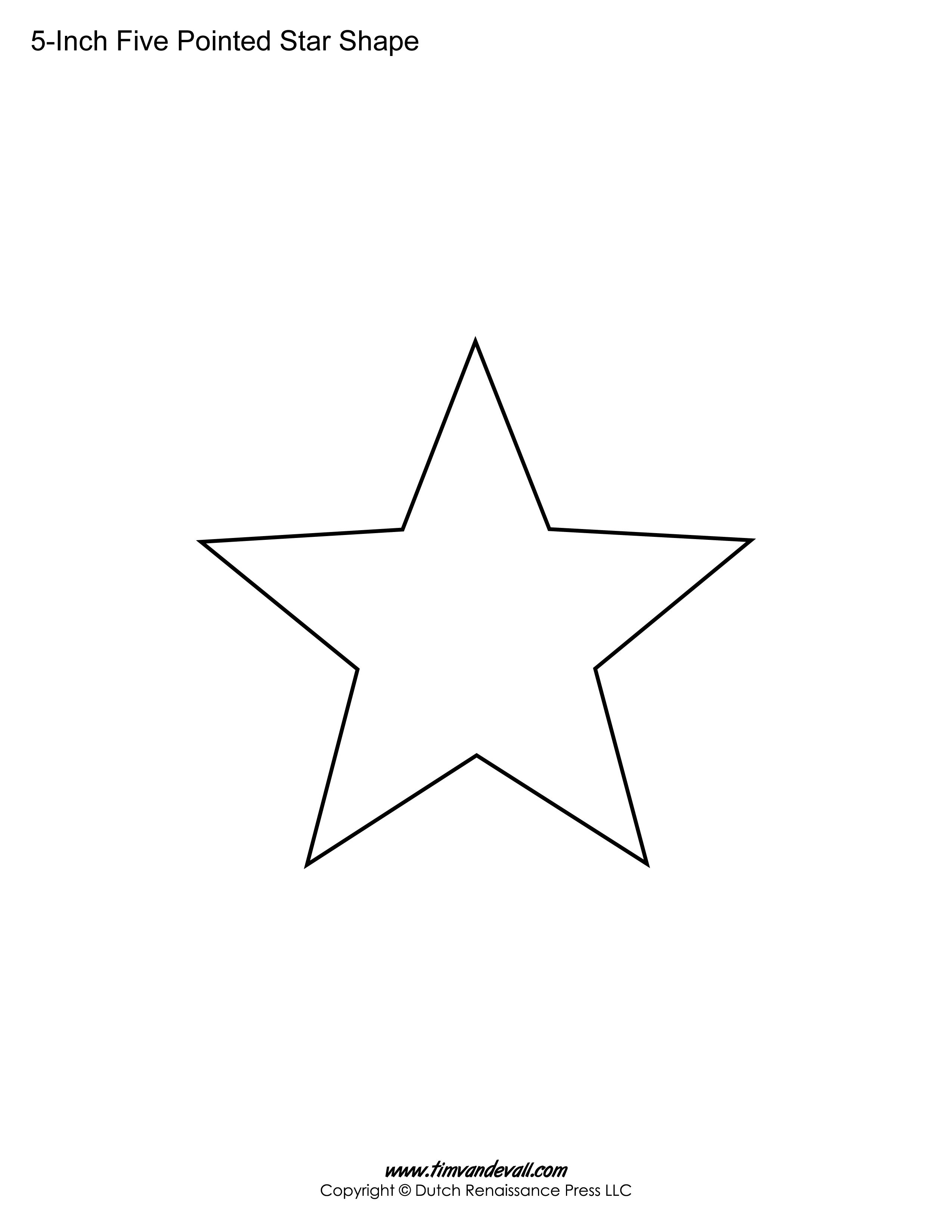 5 Pointed Star Printable