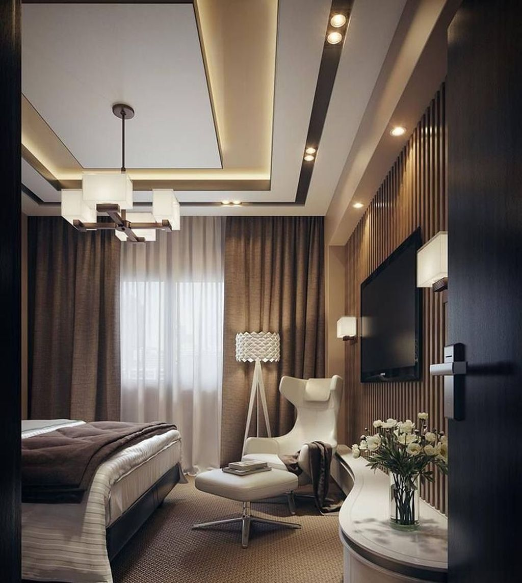 50 Phenomenal Modern Bedroom Ceiling Designs 2018 ...