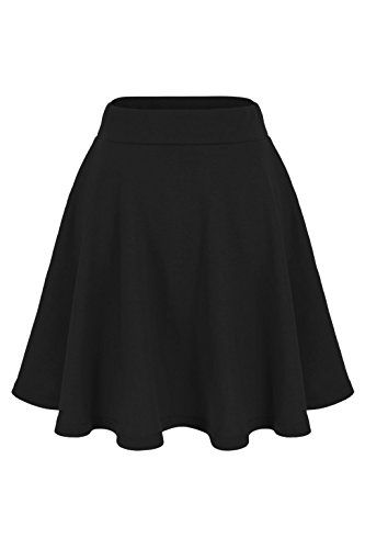 A skater skirt to have to be added in your wardrobe. Because of simple refined design solid pattern and moderate thickness of the cotton fabric you can wear it from formal to casual and from summer...