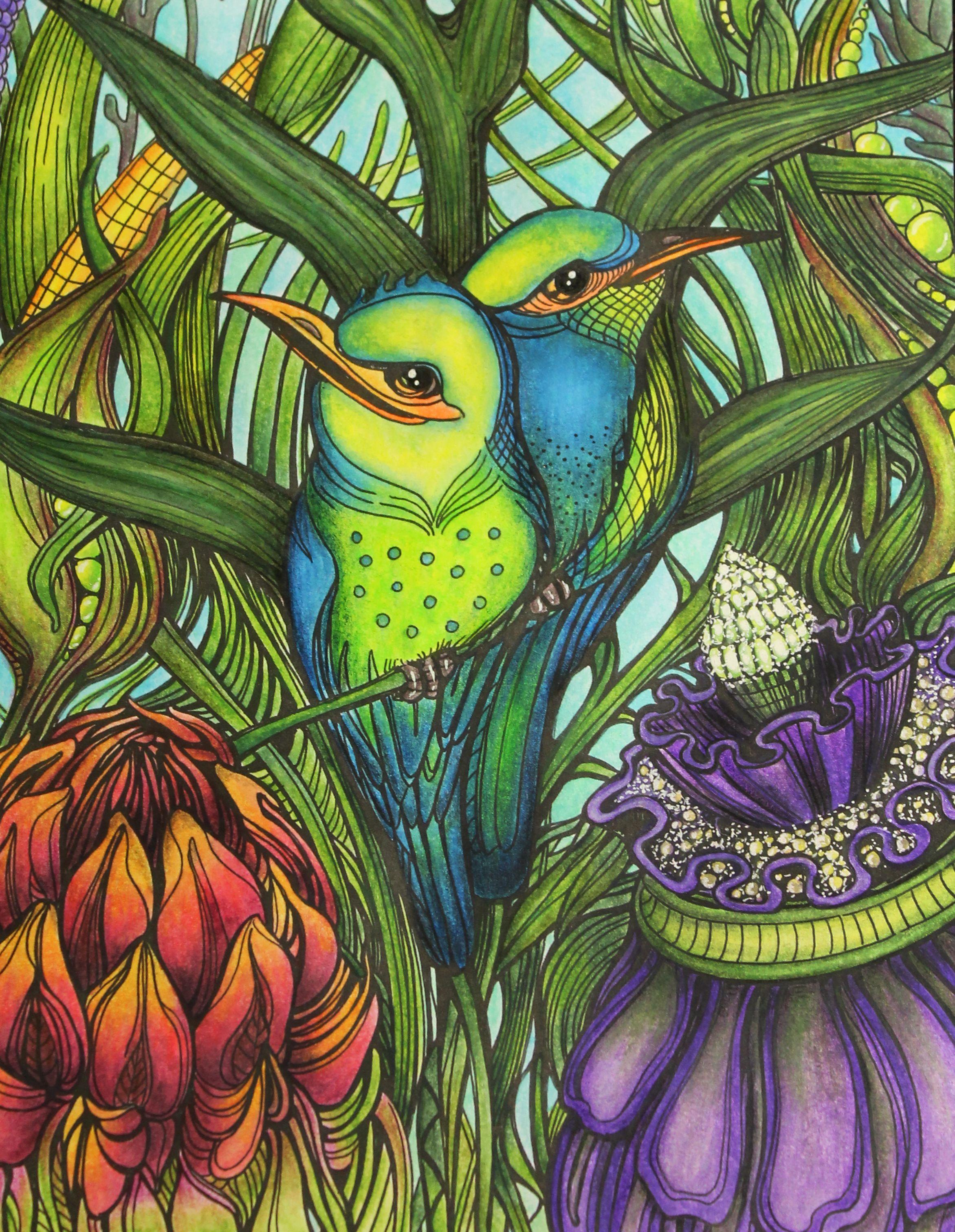 Manic Botanic Christmas Coloring Books Vinyl Record Art Coloring Books