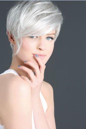 plus de 1000 ides propos de coupe couleur cheveux courts sur pinterest coup paris et coupes la garonne - Coloration Cheveux Gris Perle