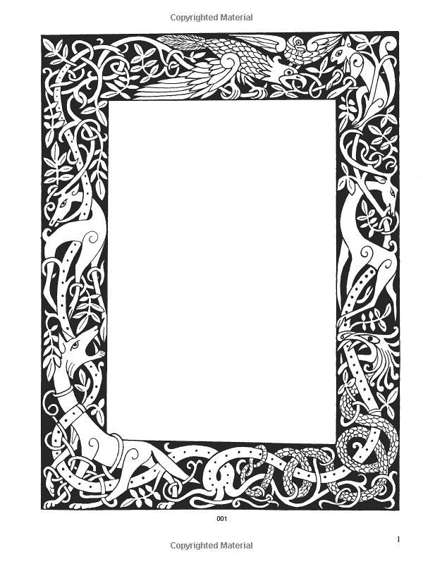 Celtic Frames and Borders CD-ROM and Book (Dover Electronic Clip Art ...