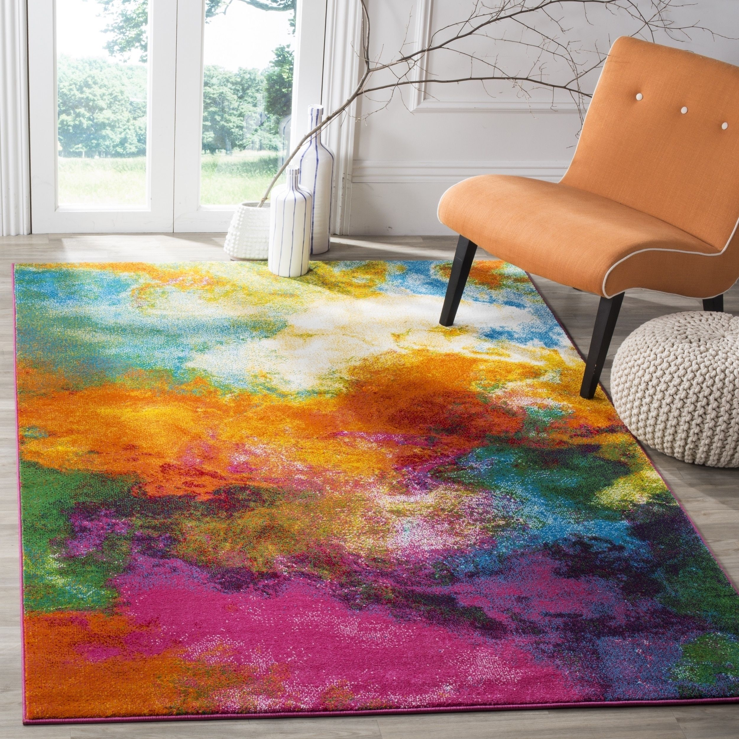Safavieh Watercolor Virve Watercolor Modern Abstract Rug