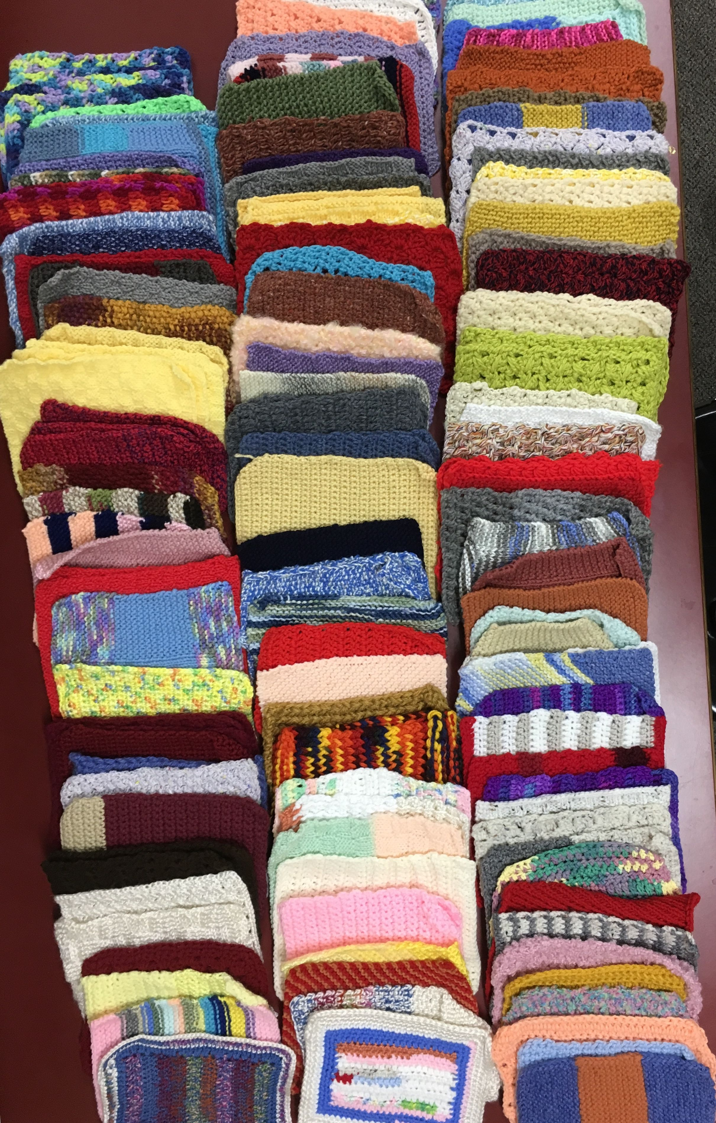 Summer charity 2018 Knitted squares for Warm up America