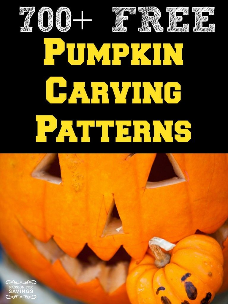 Over 700 FREE Pumpkin Carving Patterns! | Halloween | Pinterest ...