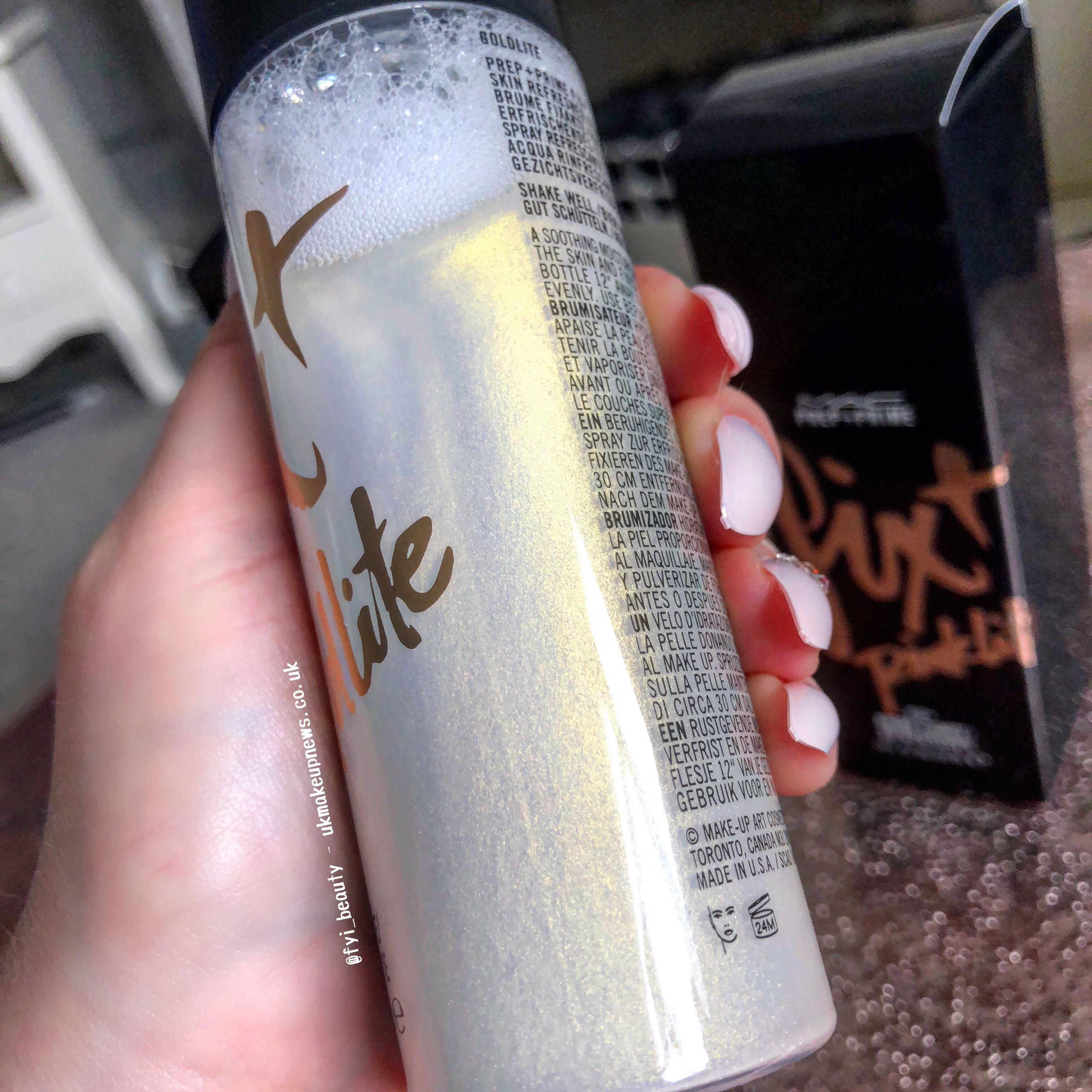 MAC Fix + Plus Shimmer in Goldlite Mac fix plus, Mac