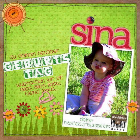 Happy Birthday Sina, digital layout by Marlen