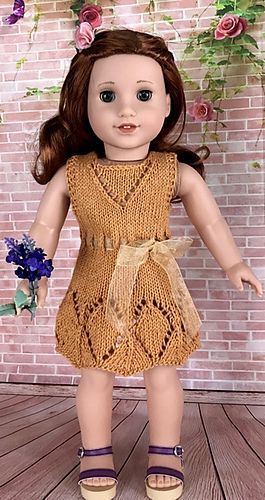American Girl Doll Summer Lace Dress pattern by Elaine Phillips #dolldresspatterns
