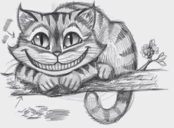 Molde para dibujar el gato Cheshire | cama gatin | Pinterest | El ...