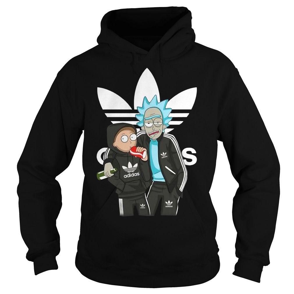 Rick And Morty Adidas T Shirt Adidas Hoodie Rick Morty Hoodies