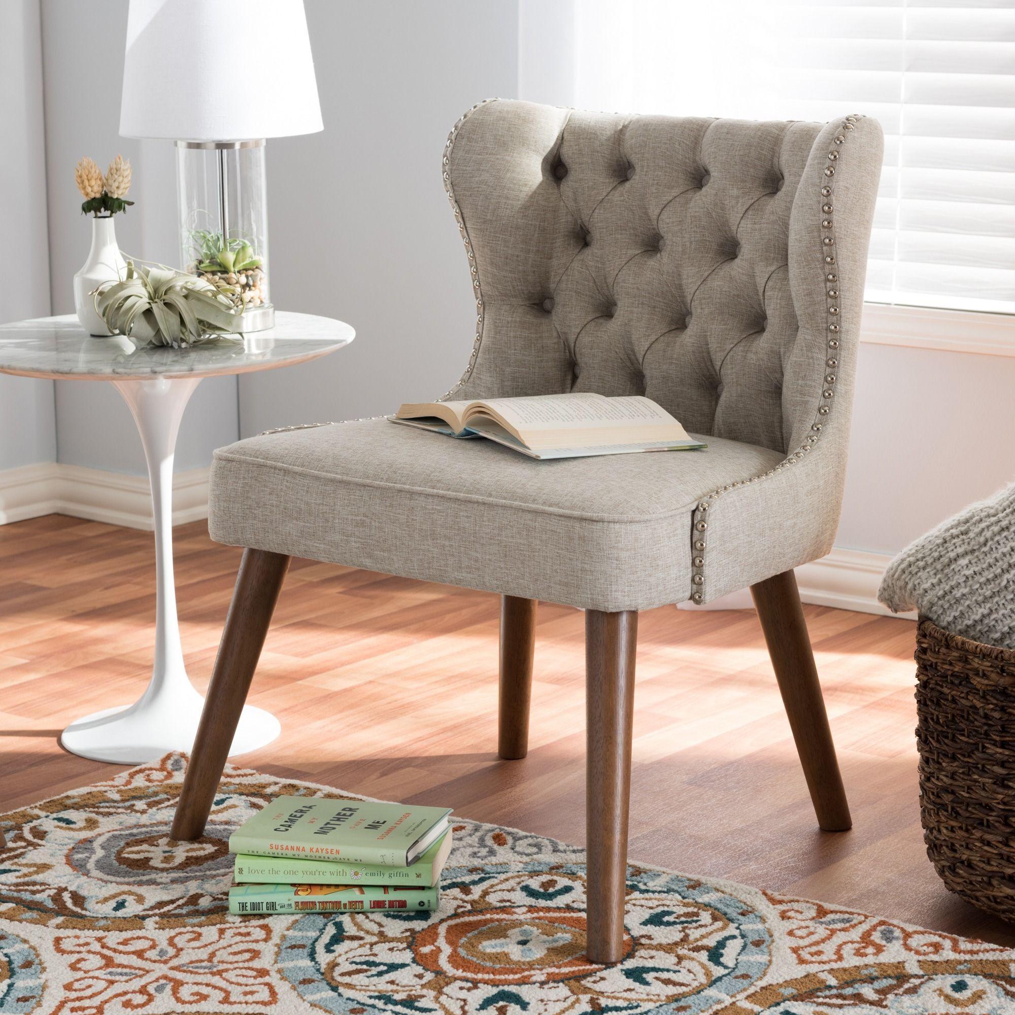 Remarkable Baxton Studio Efthalia Mid Century Modern Upholstered Tufted Cjindustries Chair Design For Home Cjindustriesco