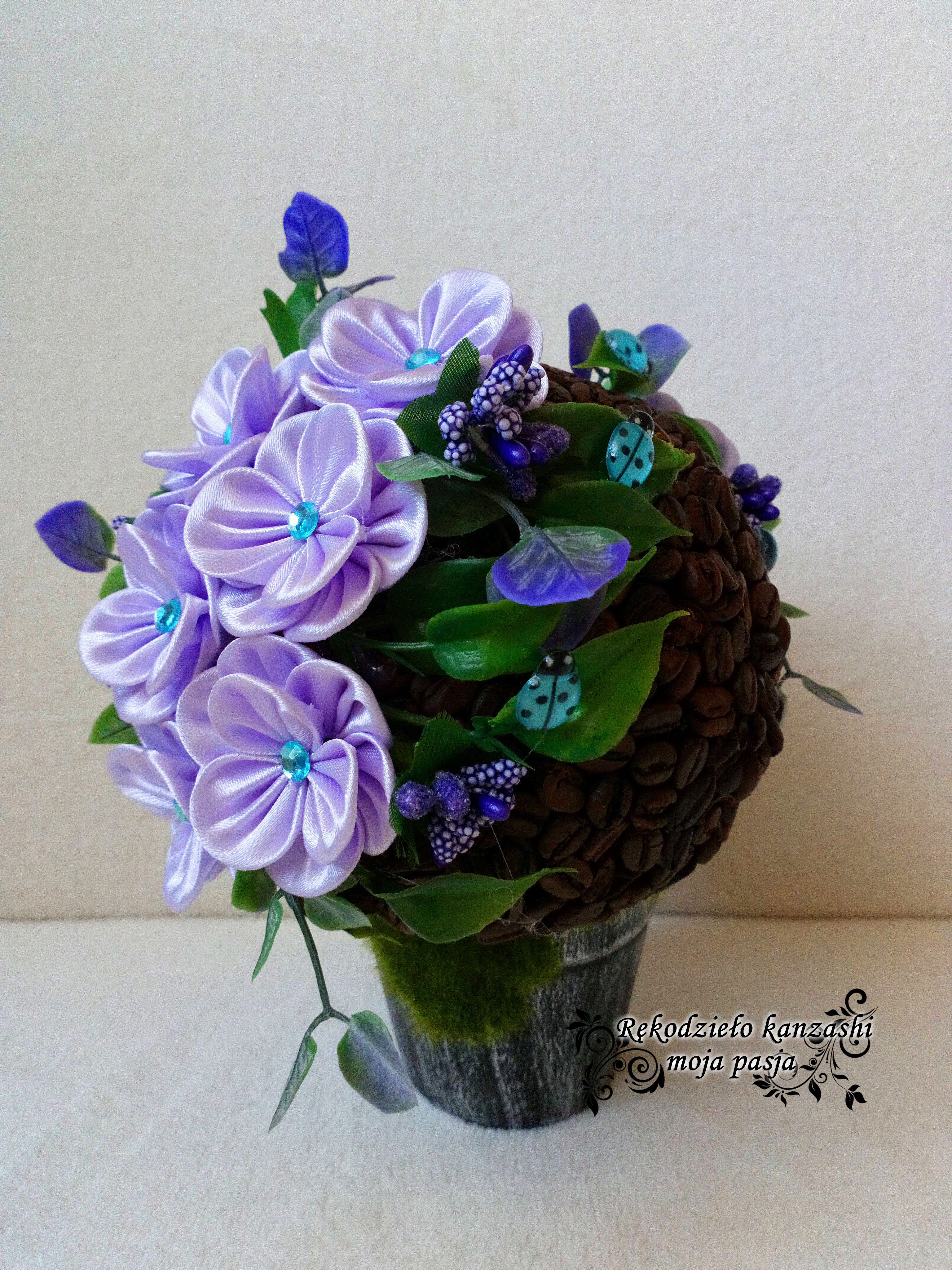 Flower Box Kawowy Na Doniczce