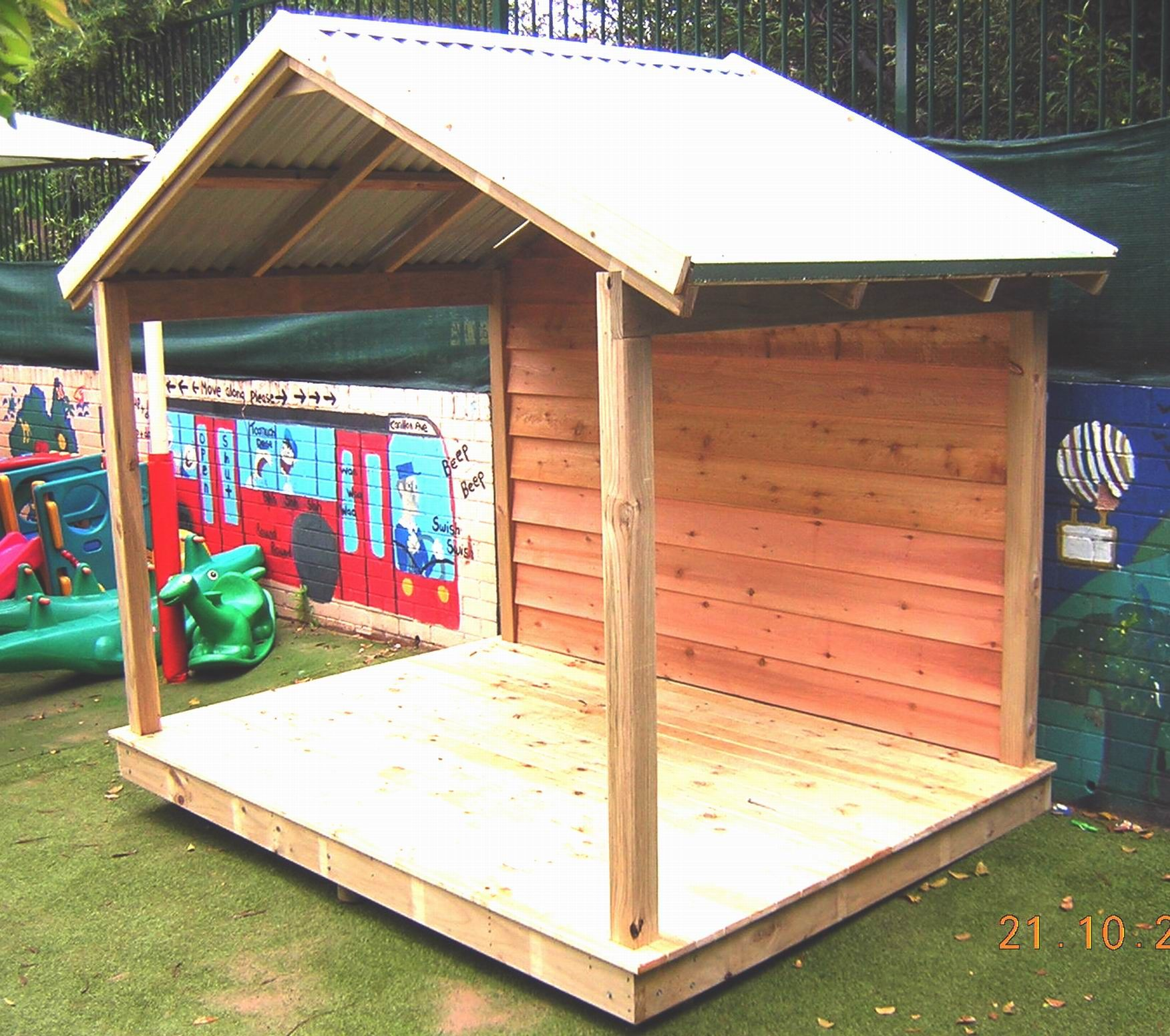 garden shelter open on three sides co op kid committee ideas
