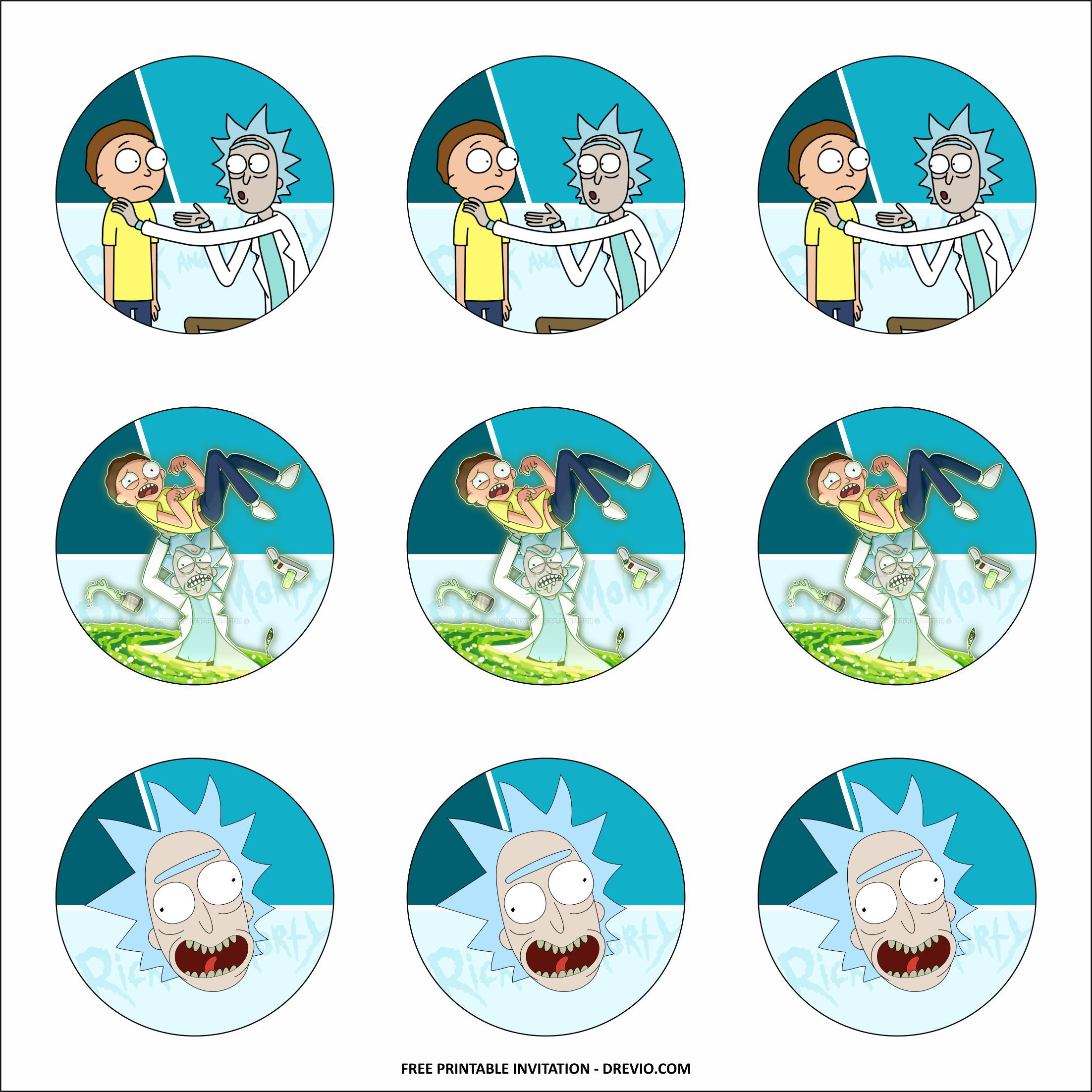 Free Printable Rick And Morty Birthday Party Kits Templates Free And Inspiring Party Kits Birthday Party Kits Free Printable Birthday Invitations