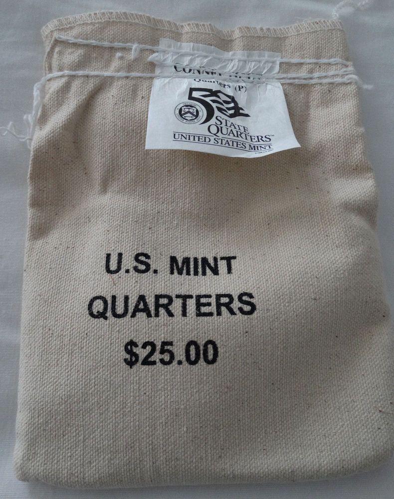 Mint 100 Coins UNC 1999-D Connecticut 25.00 Unopened Quarters Bag Direct U.S