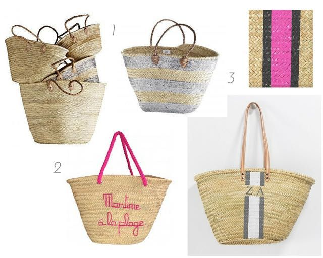 Gorgeous classic Straw beach bags - perfect for a picnic, the ...