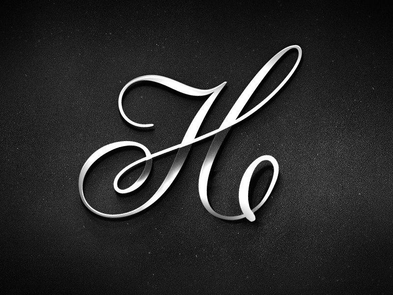 H script monogram Logo Mark Pinterest