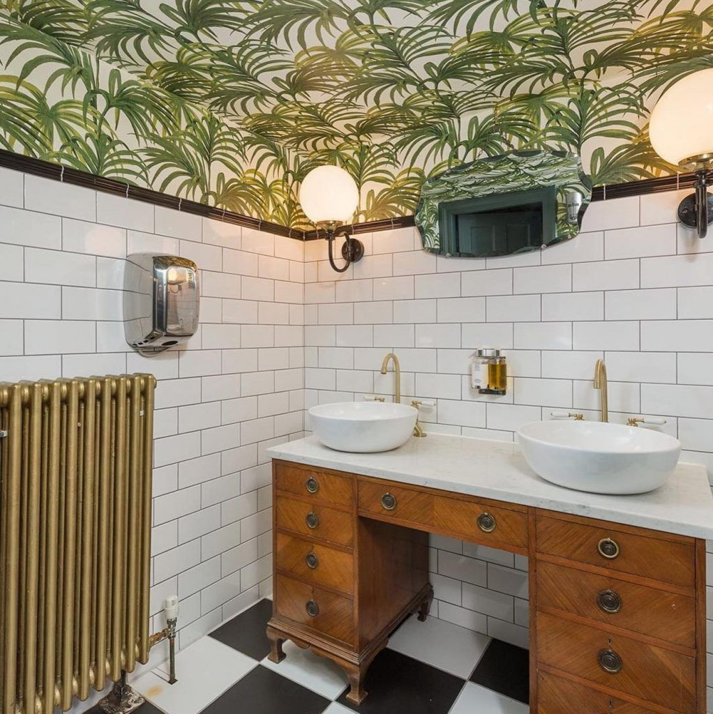 17 Rooms That Prove Wallpaper Is Always A Good Idea Bathroom Ceiling Wallpaper Ceiling Wallpaper Bathroom Ceiling