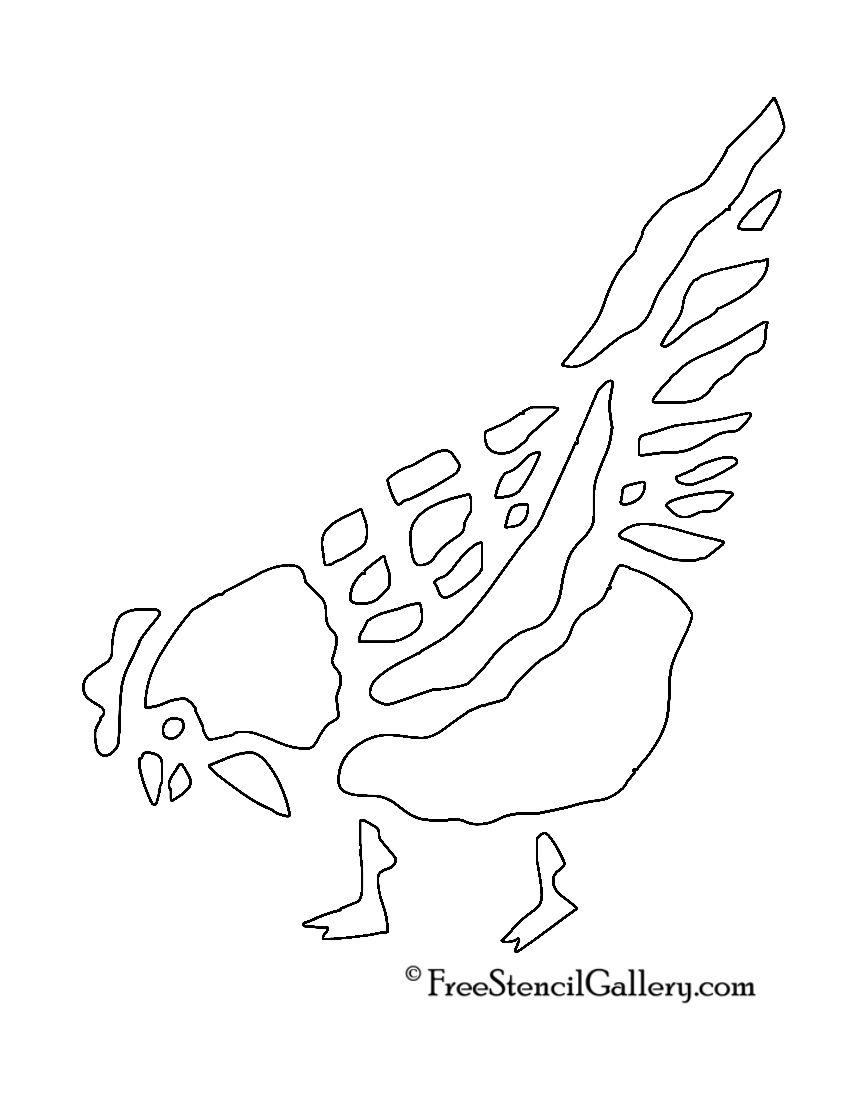 Pollo Stencil | Animaux | Pinterest | Stencils and Chicken