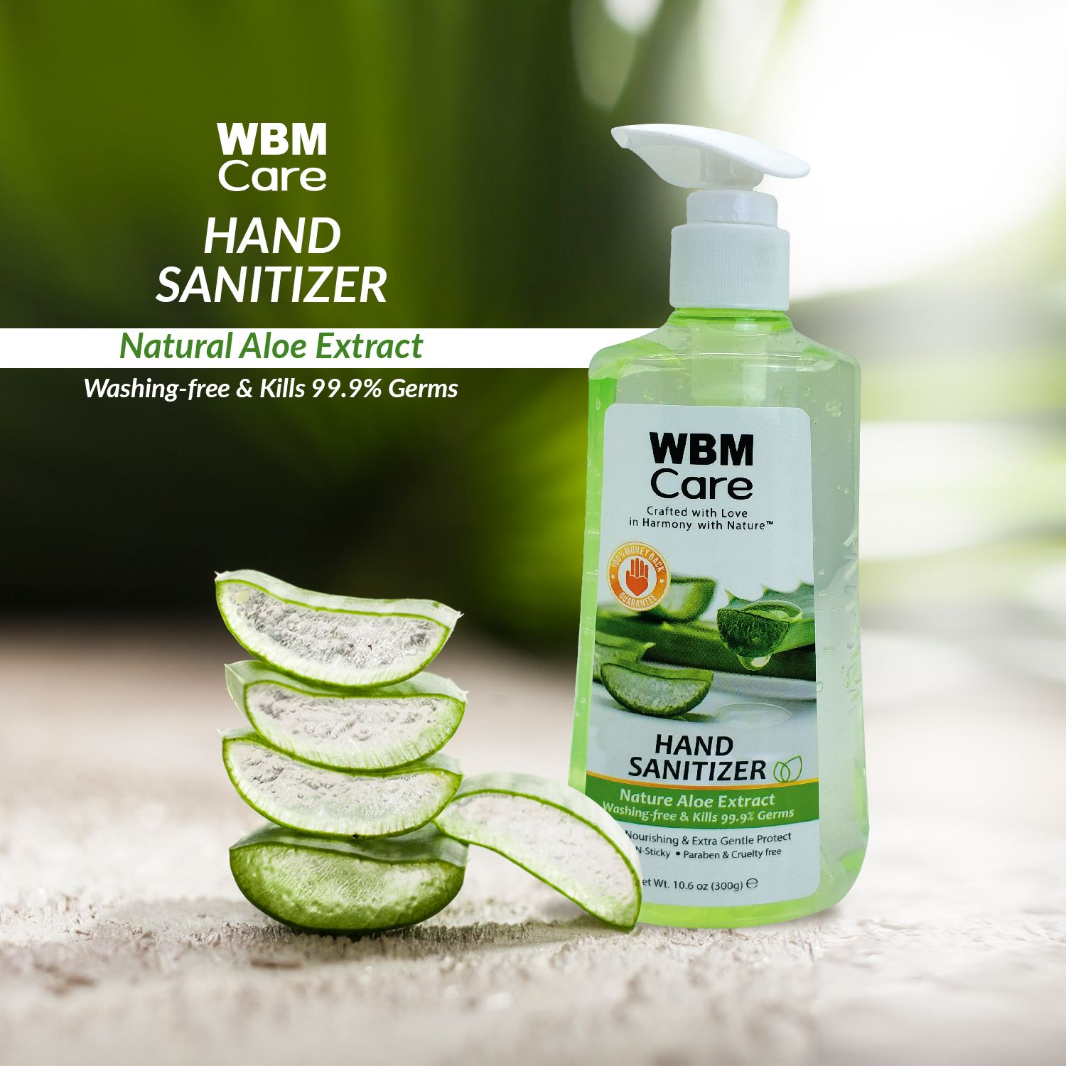 Wbm Care Offers The Best Hand Sanitizer With Aloe Vera Extracts