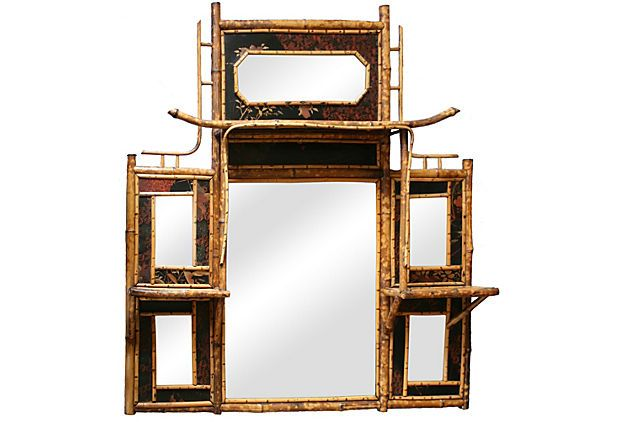 19th-C. French Bamboo Mirror on OneKingsLane.com