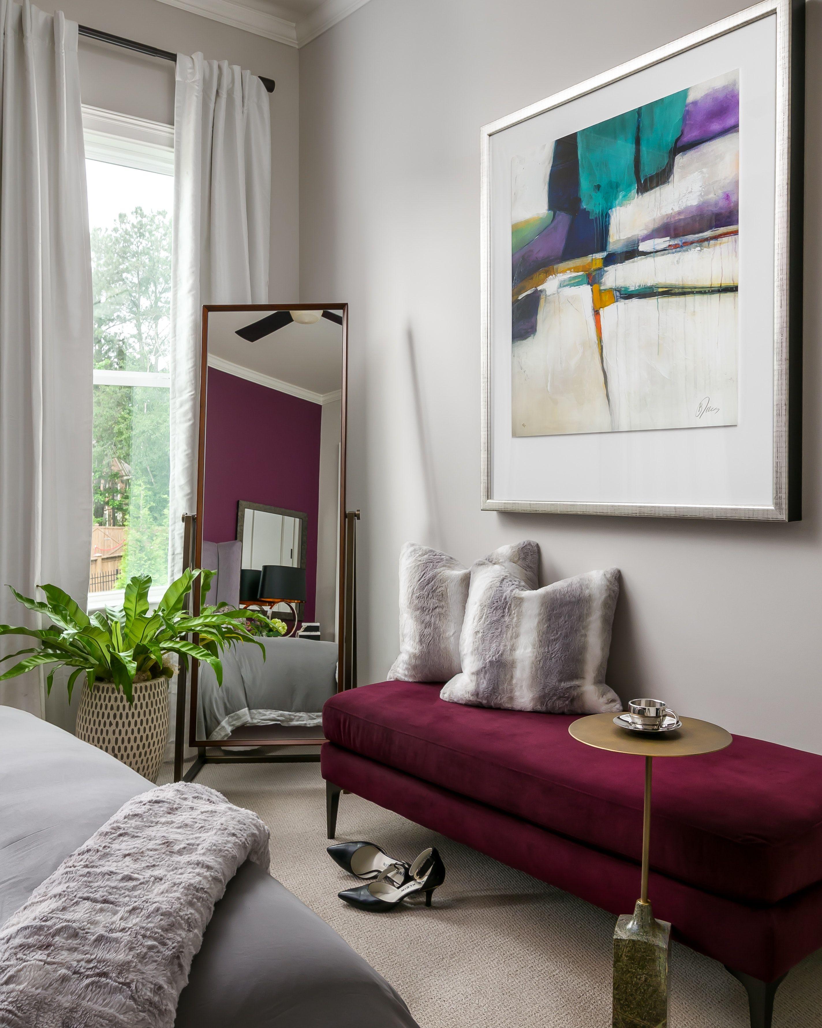 Transitional Guest Bedroom Atlanta GA Simple bedroom