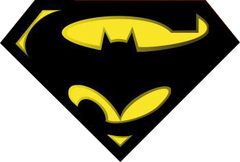 Batman symbol justice league. Superman mashup graphic design
