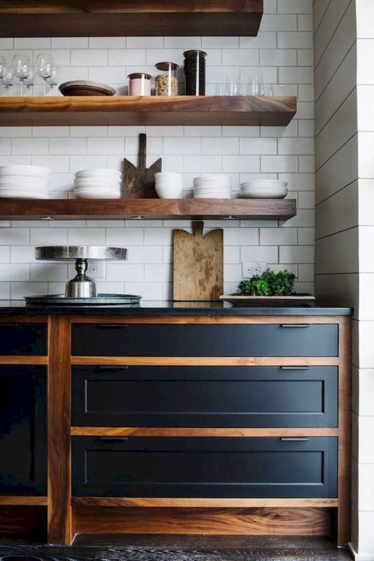 37 Best Modern Farmhouse Kitchen Cabinets Ideas | Plantilla de casa ...
