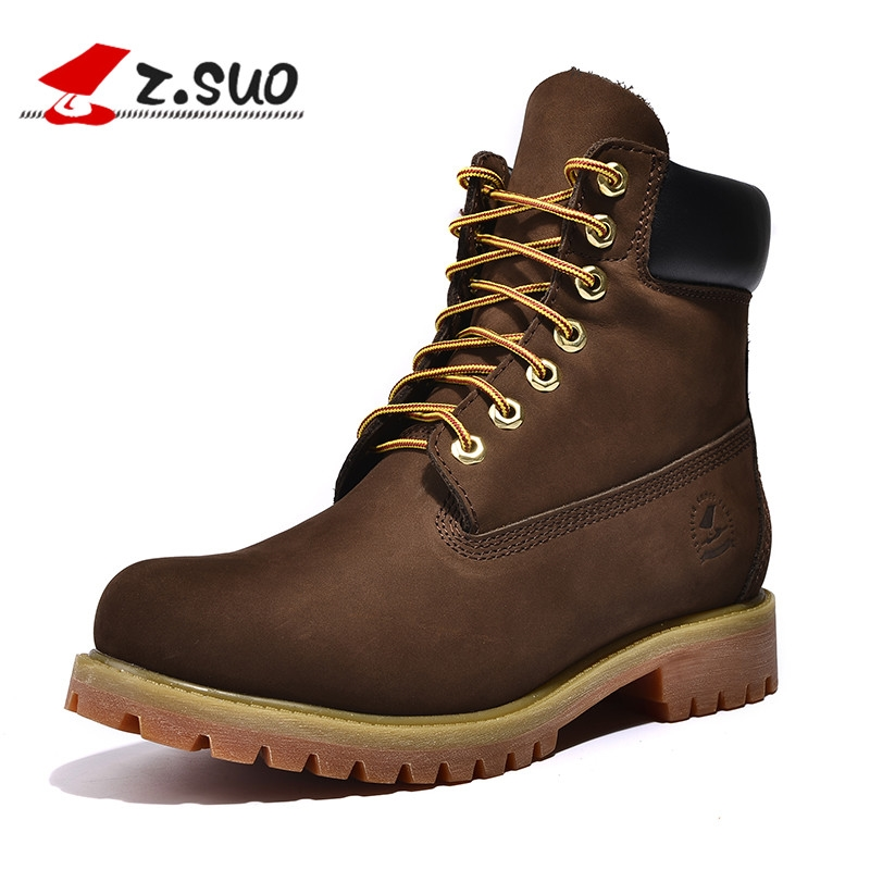 71.88$  Watch now - http://alik1y.worldwells.pw/go.php?t=32711229909 - Z. Suo men's boots, the first layer of cow leather boots in tube, casual fashion men's  boots. botas hombre zs10061 71.88$