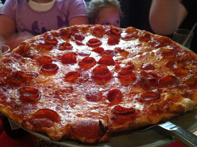 The pizza you MUST taste before you die! A Pepperoni Pizza at La Hacienda Niagara Falls, NY