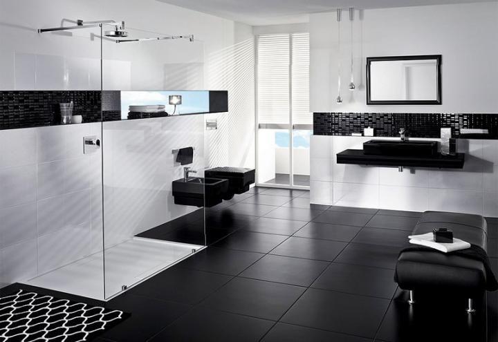 Black And White Bathrooms Elegant Black Tile Bathrooms Black White Bathrooms White Bathroom Interior