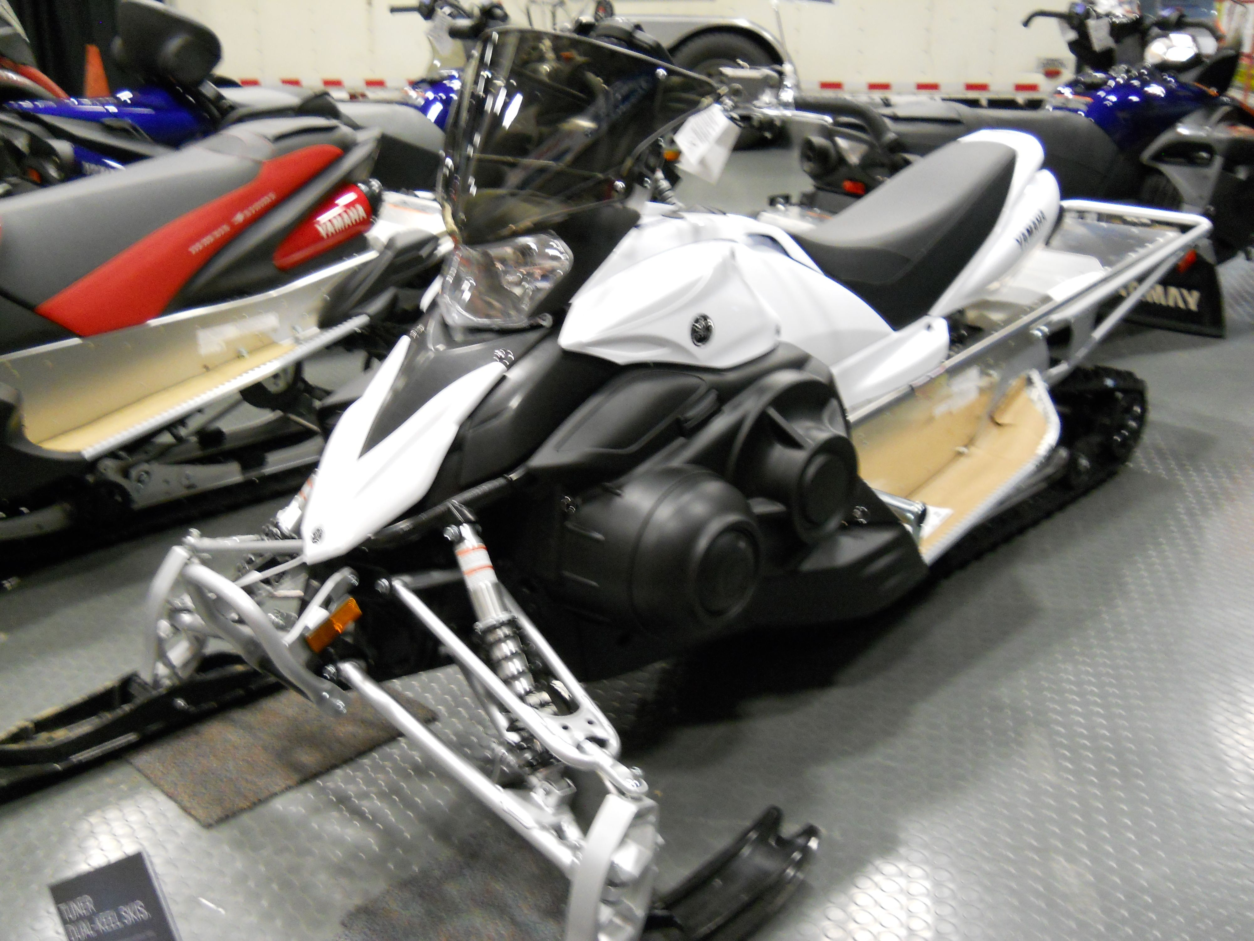 White Yamaha Snowmobile