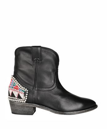 Amen - Embroidered leather boots