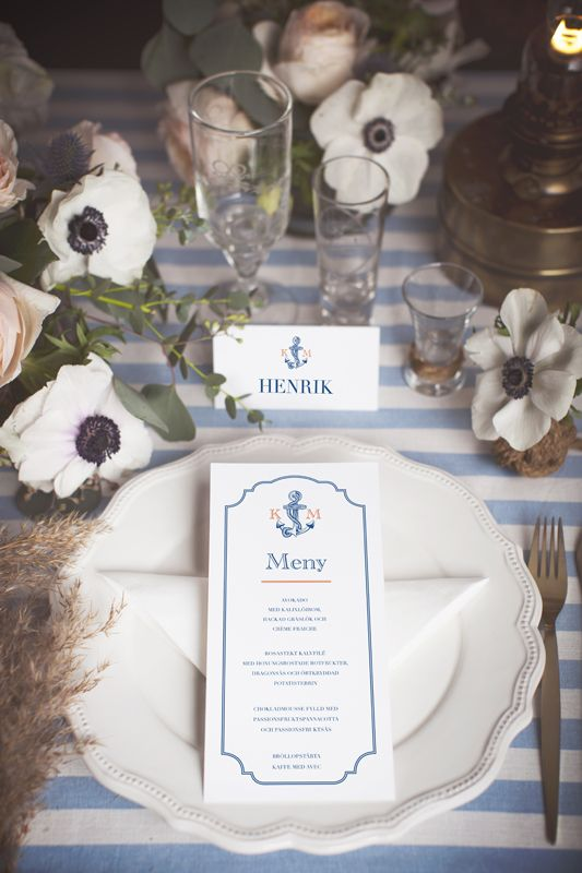 See Breeze Table Setting cards from Calligraphen #navy #marint #tema #bröllop #. Nautical WeddingTable ... & See Breeze Table Setting cards from Calligraphen #navy #marint #tema ...