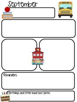 Monthly Newsletter Editable Newsletters Preschool
