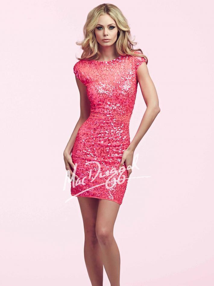 Pink Short Homecoming Dress | Mac Duggal 4014N | Homecoming | Pinterest