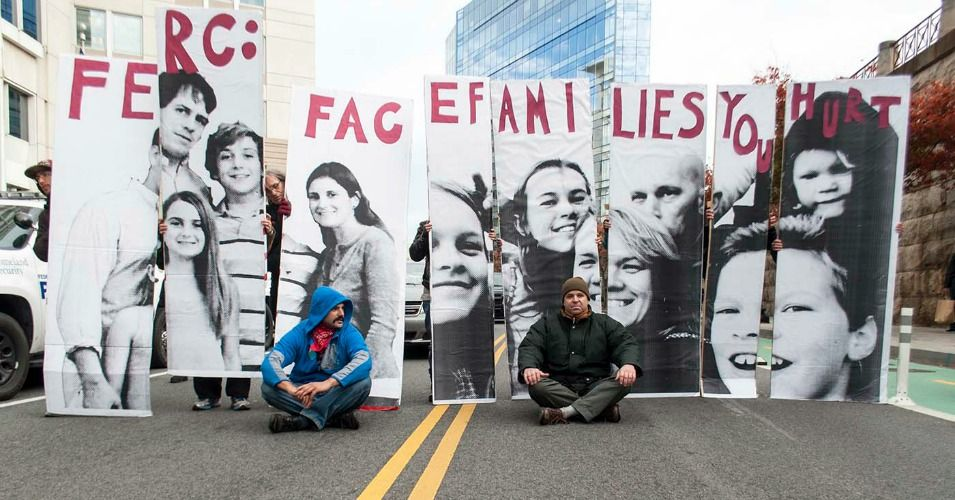 """""""Week of Anti-Fracking Action Culminates with Blockade, Arrests Outside Federal Building"""" (article) (via Common Dreams) (7 November 2014) Activists spent the last week protesting the approval of fracking projects around the country, stating that they are being made without consideration of environmental and health impacts."""