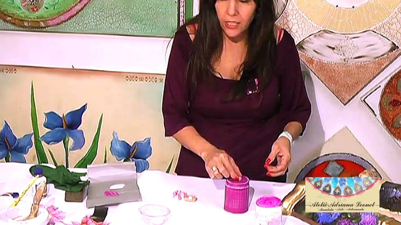 ADRIANA LEONEL -  ARTE EM RECICLADOS -  PARTE 1 DE 5   (PINTURA EM LATA ...