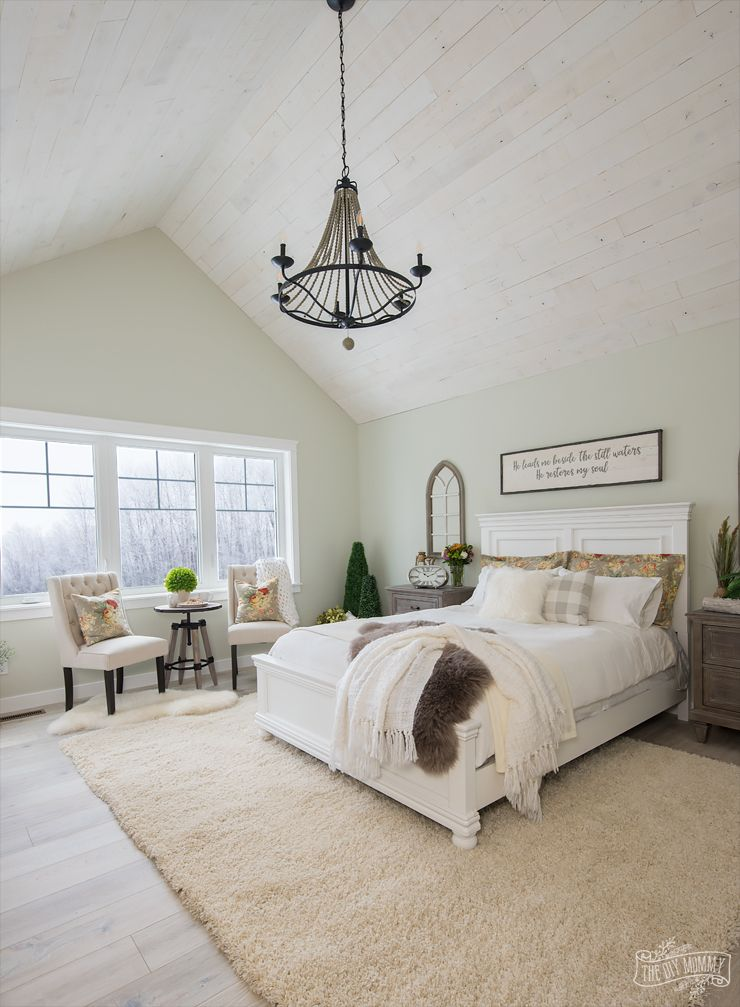 Rustic Traditional Lake House Master Bedroom Reveal One Room Challenge The Diy Mommy Diy Master Bedroom Decor House Decorating Ideas Bedroom Master Bedrooms Decor