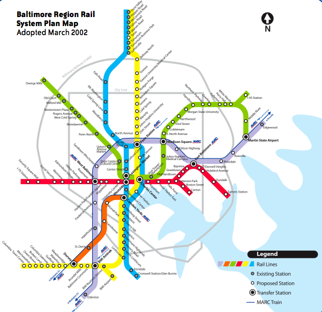 Baltimore Subway Map