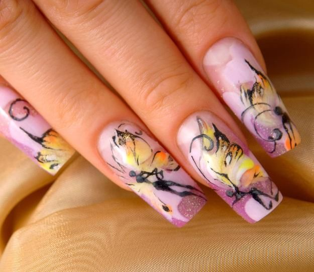 Bold Nail Design Pictures Around The House Butterfly Nail