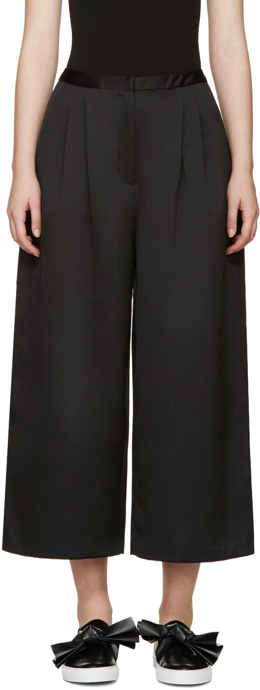 Edit - Black Satin Culottes