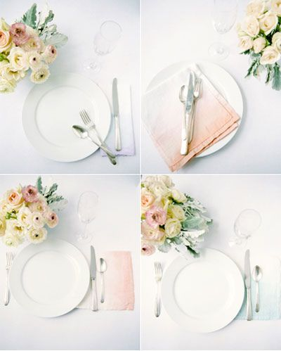 How To Lovely Ombre Napkins This Is Glamorous Diy Wedding Napkins Wedding Napkins Diy Ombre