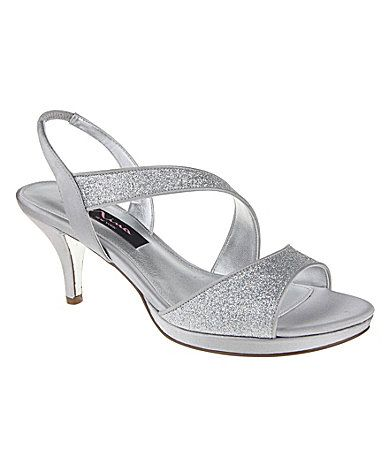 Nina Newark Glitter Dress Sandals | Dillards, Kitten heels and Sandals