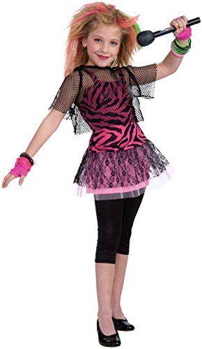 Forum Novelties 80s Rock Star Child Girls Costume Small -- Continue - mens halloween ideas