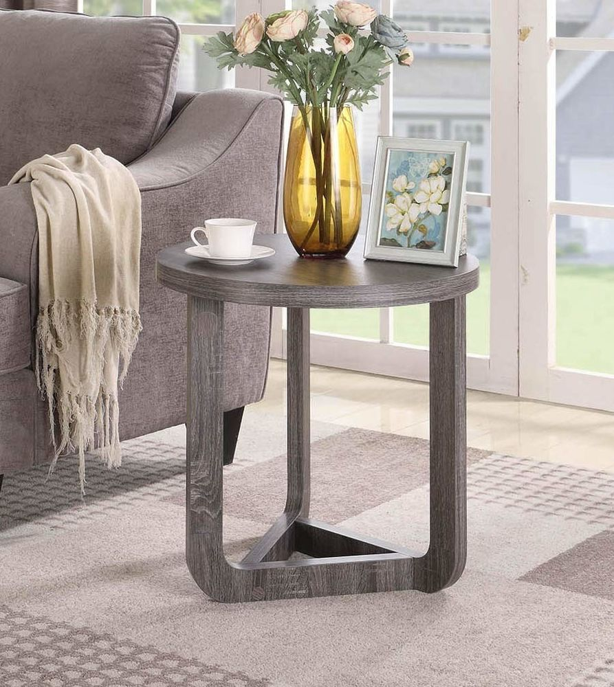 Small Round Side Table Furniture Living Room End Accent Contemporary Wood Grey 71 55 End Date Friday Feb Small Round Side Table End Tables Round Side Table