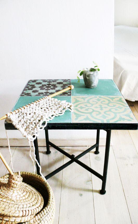 Make Mine Moroccan Tile Tables Moroccan Table Metal Table Frame