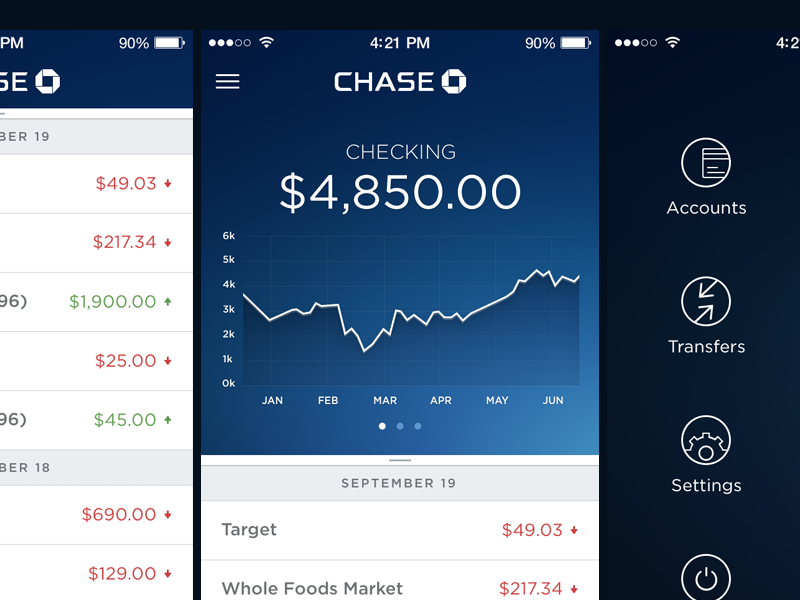 Chase bank app exploration pinterest app ui ux and ui design chase bank app exploration by samuel thibault for handsome malvernweather Gallery